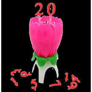 Vela Forma Flor Rosada