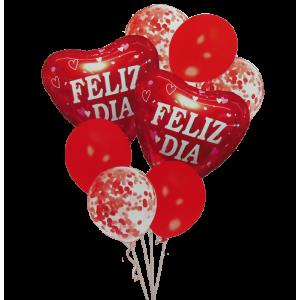 Bouquet Rojo Feliz Día