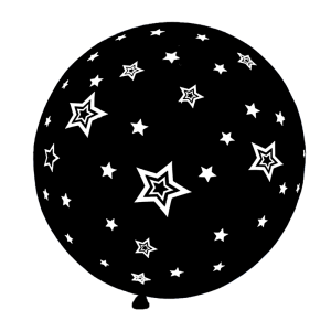 Globos R20 con Estrellas Negro