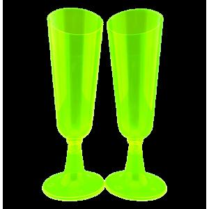 Copa Champaña X 6 Verde Limón