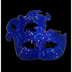 Antifaz Escarchado Azul