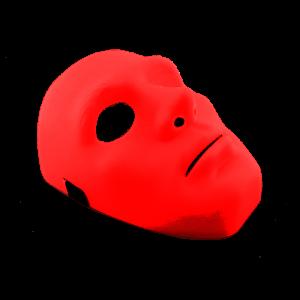 Máscara Unicolor Roja