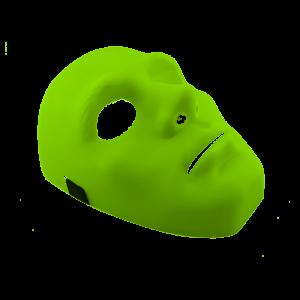 Máscara Unicolor Verde Limón
