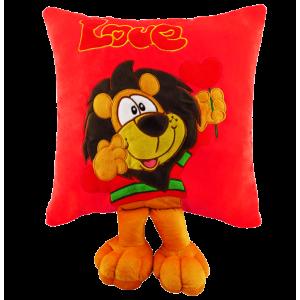 Peluche Cojín León Rojo Love