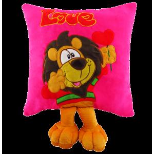 Peluche Cojín León Fucsia Love