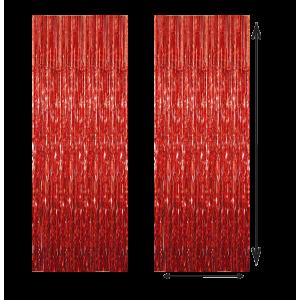 Cortina Color Rojo 100x210cm