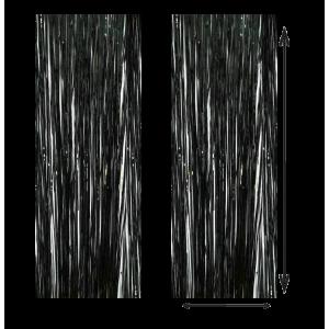 Cortina Color Negro 100x210cm