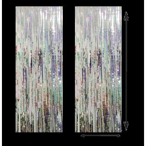 Cortina Color Plata 100x210cm
