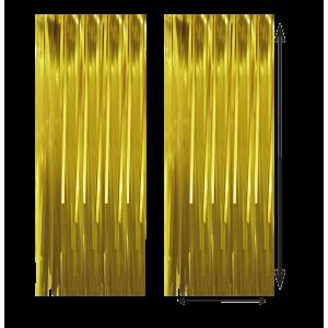 Cortina Color Dorado 100x210cm