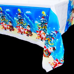 Mantel Azul Navidad 108 x 180