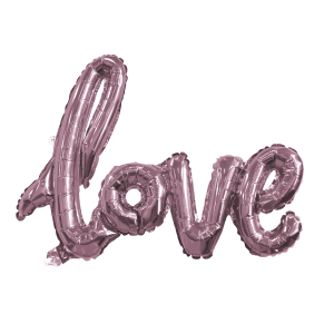 Letrero Metalizado Love
