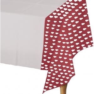 Mantel 108 X 180 Corazón Rojo