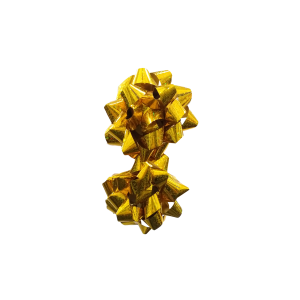 Moños Metalizados Dorado